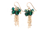 Yumi Chen Designs- Todi Collection :  swarovski todi collection ernite green green